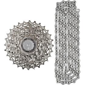Shimano Cassette 105 CS-5700 11-28 & chaîne Ultegra CN-6701 10 vitesses - Kit pignon et chaîne - set gris